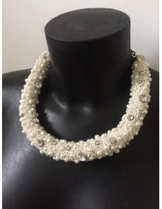 Collier plastron Suite Blanco