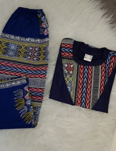Ensemble t-shirt + pantalon Dashiki