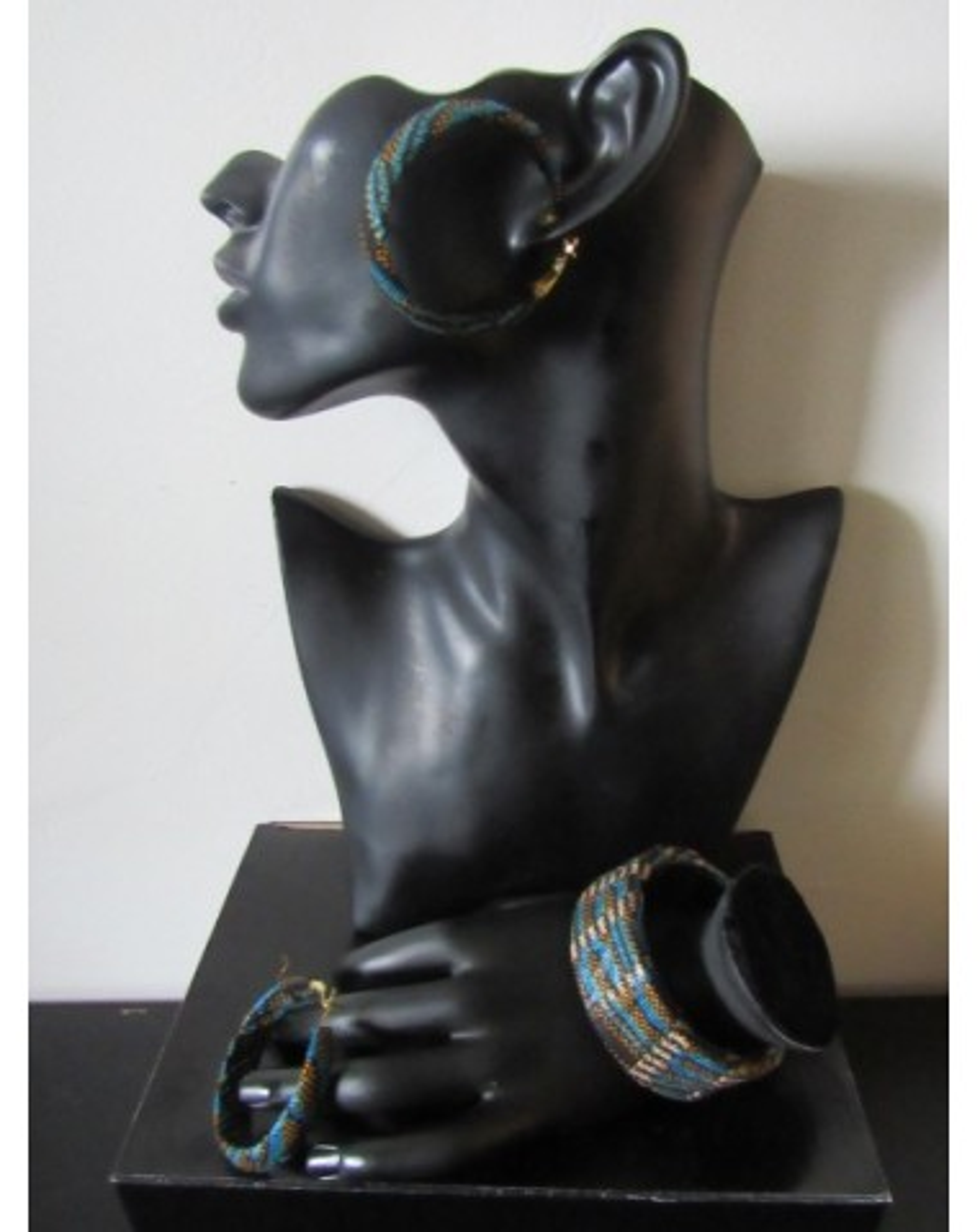 Parure bijoux en wax