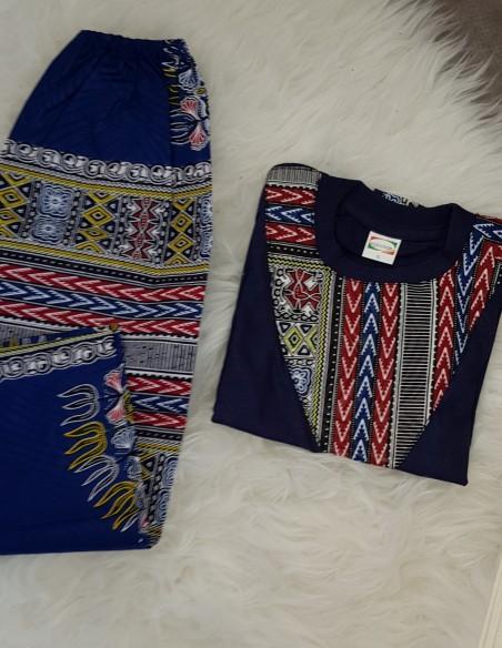 Ensemble t-shirt + pantalon Dashiki