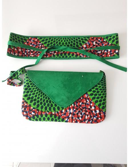 Pochette + ceinture obi en wax
