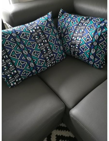 Lot of 2 Bogolan pillow covers