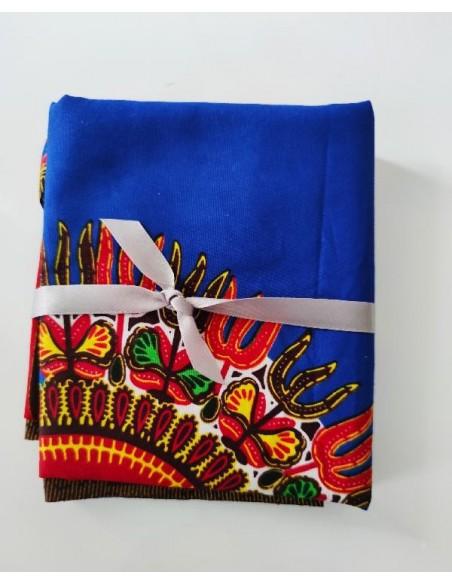 Coupon tissu wax motif Dashiki