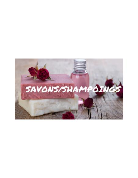 Les savons et shampoings
