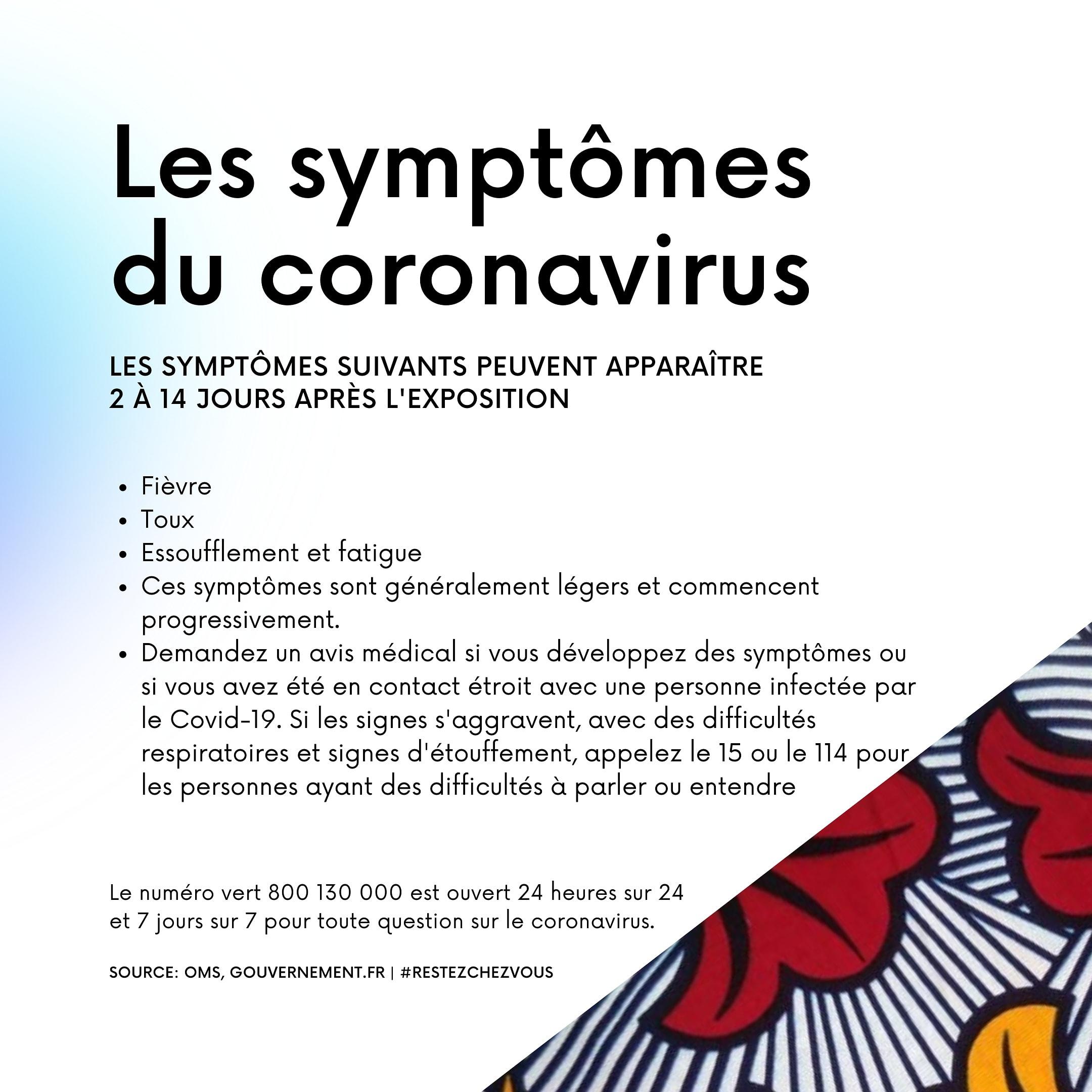 Symptômes coronavirus - Fashionista Paris
